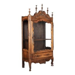 French Provençal Vitrine or Display Cabinet For Sale