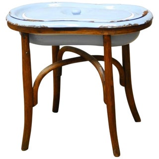 French Style Bentwood Enameled Sink Bidet In The Of Michael Thonet