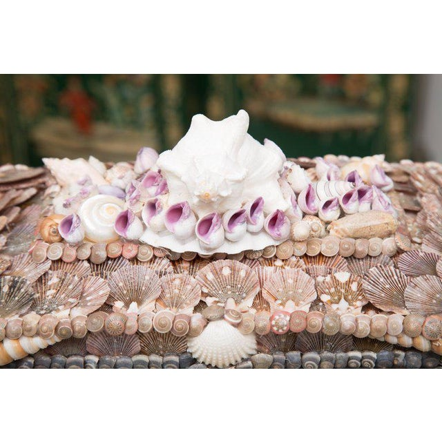 Shell Encrusted Lidded Box For Sale In West Palm - Image 6 of 10
