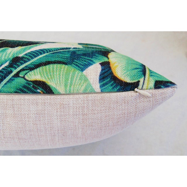 2010s Dorothy Draper-Style Banana Leaf Pillows - a Pair For Sale - Image 5 of 6