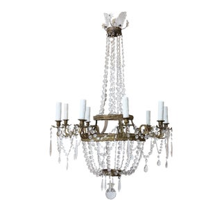 Gilt Repousse Empire Chandelier For Sale