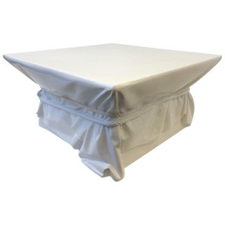 John Dickinson Style White Lacquered Fiberglass Cocktail Table For Sale