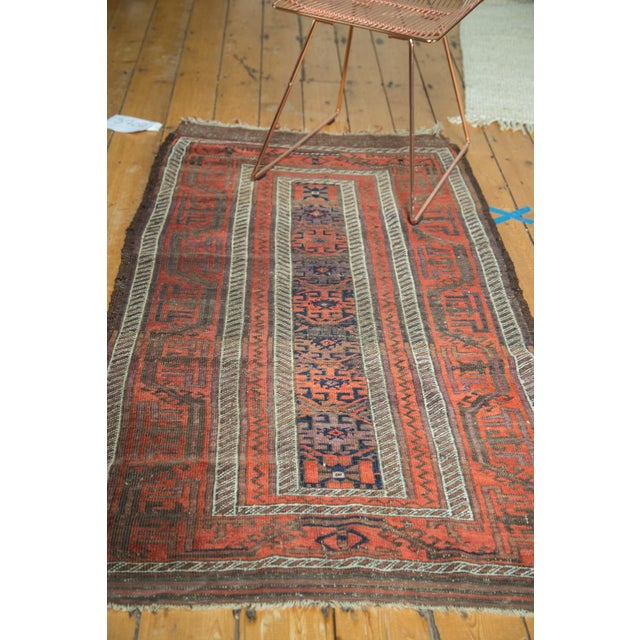 "White Antique Belouch Rug Runner - 3' x 5'8"" For Sale - Image 8 of 9"