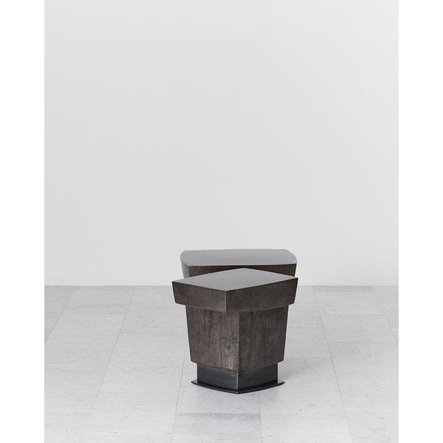 Gary Magakis, Ledges 2 Patined Steel Side Table, USA, 2016 For Sale In New York - Image 6 of 8