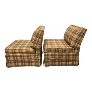 Billy Baldwin Style Slipper Chairs - a Pair For Sale