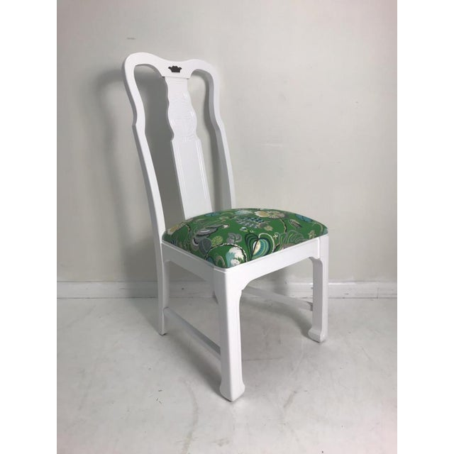 Chinoiserie Vintage Asian Chinoiserie Style Dining Chairs - Set of 8 For Sale - Image 3 of 10