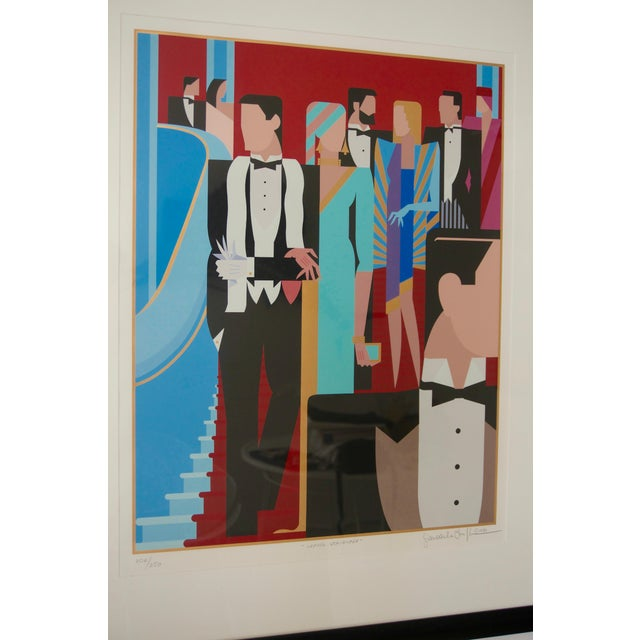 """Art Deco Art Deco Revival """"Grand Staircase"""" Lithograph by Giancarlo Impiglia For Sale - Image 3 of 6"""