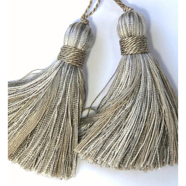 Petite Natural Color Tassels - a Pair For Sale - Image 4 of 10