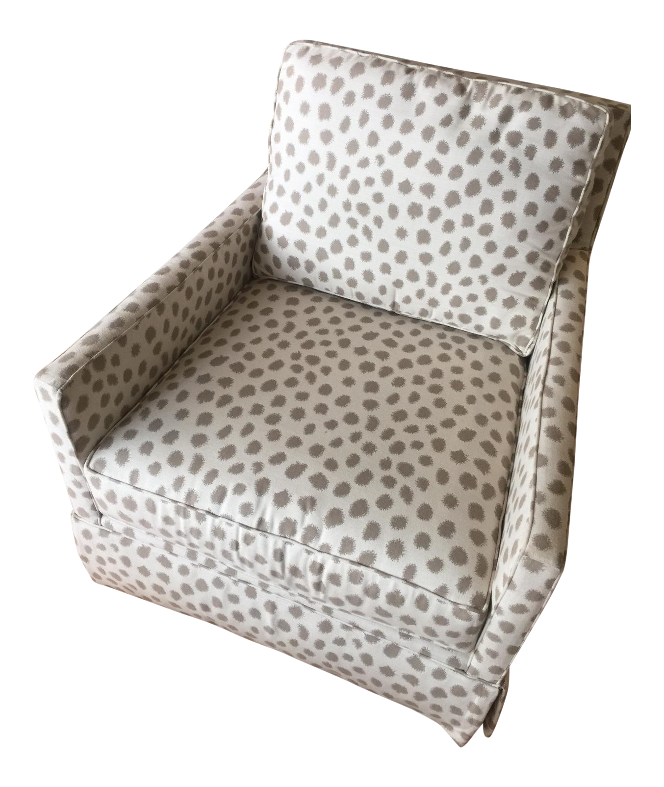 Charmant Miles Talbott Dotted Swivel Accent Chair