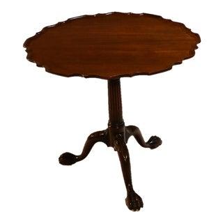 American Kittinger Chippendale style Mahogany tilt top Tea Table