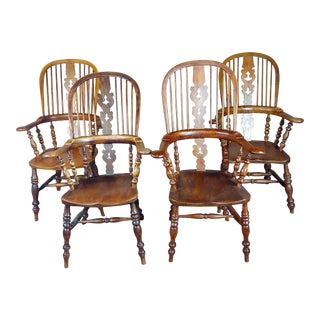 19th Century Windsor Chairs - Set of 4 For Sale