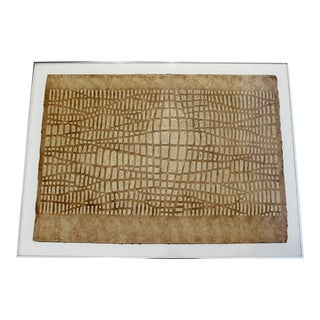 Mid Century Modern Framed Textured Paul Maxwell Lithograph Signed Numbered 47/75 For Sale