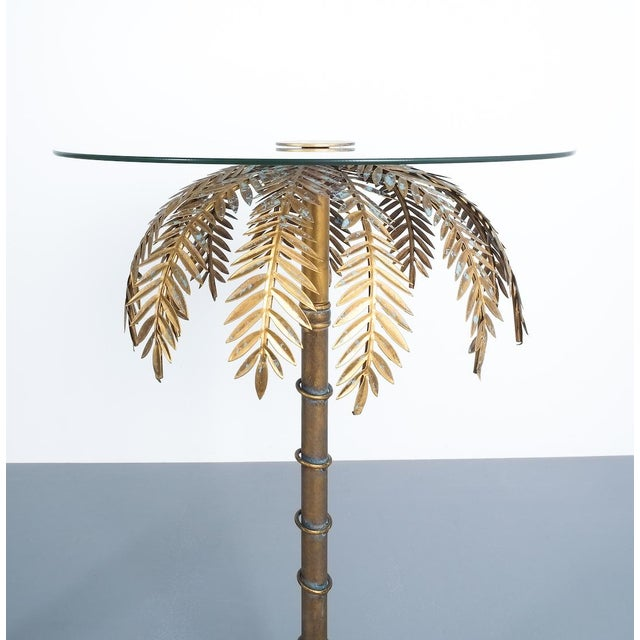 Glass Iron Centre or Side Tables Style Maison Charles, Circa 1955 For Sale - Image 7 of 11