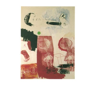 """Robert Rauschenberg Quote 35.5"""" X 27.5"""" Poster 1999 Pop Art Red, Green, Multicolor For Sale"""