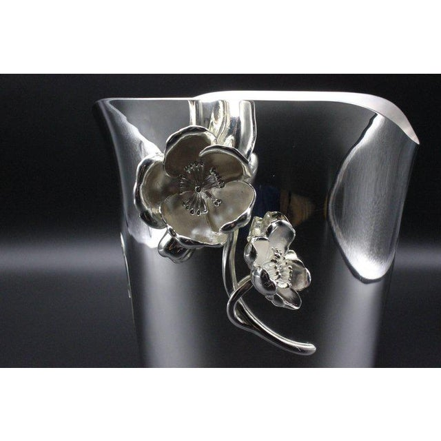 1990s 1990s Belle Epoque Christofle Perrier-Jouët Silver Plate Champagne Cooler Bucket For Sale - Image 5 of 12