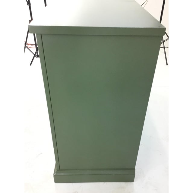 2010s Green Sliding Door Console For Sale - Image 5 of 7