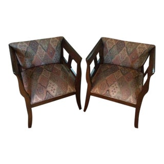 Niedermaier Accent Chairs - A Pair For Sale