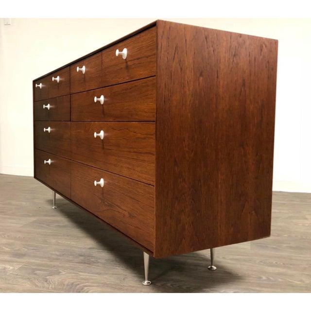 Mid-Century Modern George Nelson for Herman Miller Thin Edge Teak Dresser For Sale - Image 3 of 12