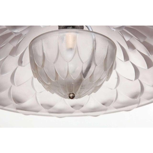 "Lalique R. Lalique ""Verone"" Chandelier For Sale - Image 4 of 9"