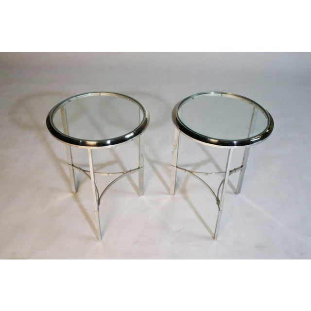Maison Jansen Style Steel Side Tables For Sale - Image 4 of 12