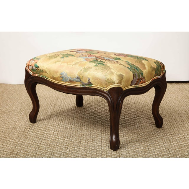 1980s Small Louis XV Style Footstool For Sale - Image 5 of 10