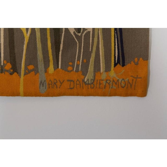 Exquisite Tapestry by Mary Dambiermont, Belgian For Sale - Image 4 of 5