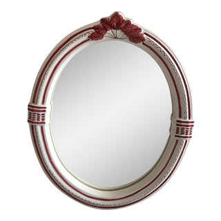 French Oval Porcelain Mirror
