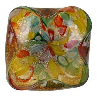Murano Confetti Silver-Fleck Glass Bowl