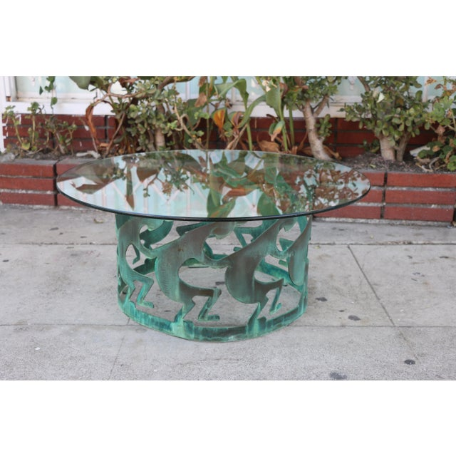 Vintage Beautiful Low Bronze Coffee Table For Sale - Image 12 of 12