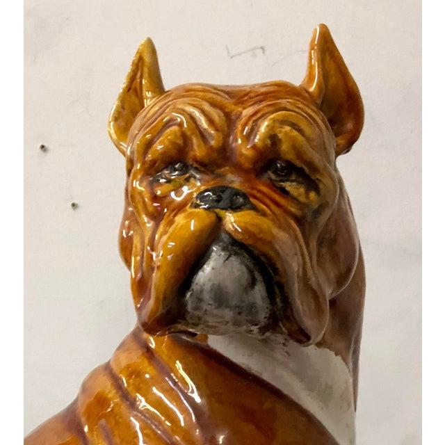 Italian Italian Terracotta Boxer Dog Figurine For Sale - Image 3 of 6