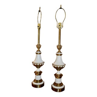 1960s Stiffel Italian Style Tall Table Lamps - a Pair For Sale