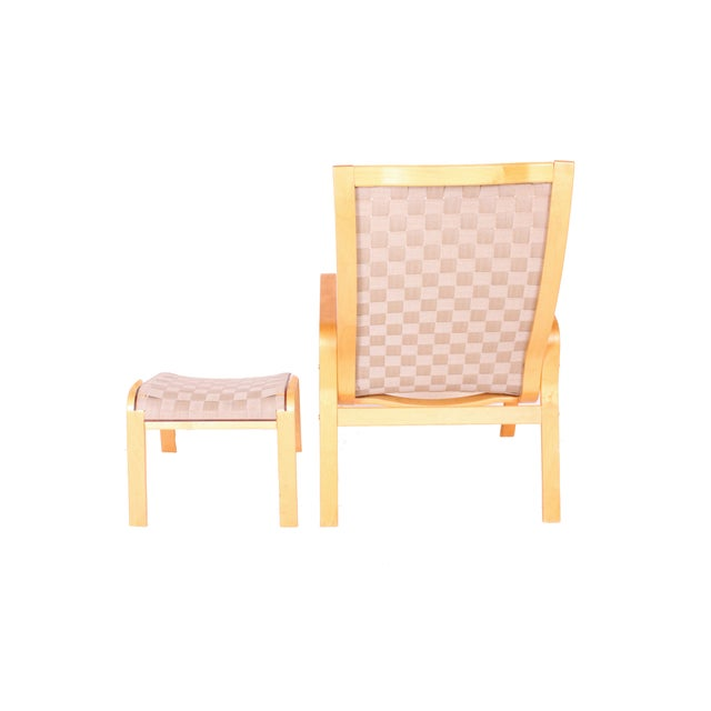 Bruno Mathsson Chair and Ottoman - Image 3 of 3