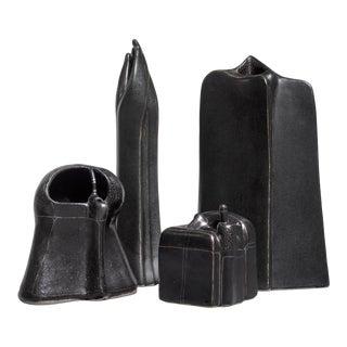 Antje Schimpfle Set of Four Sculptural Ceramic Vases, Germany, 1980s For Sale
