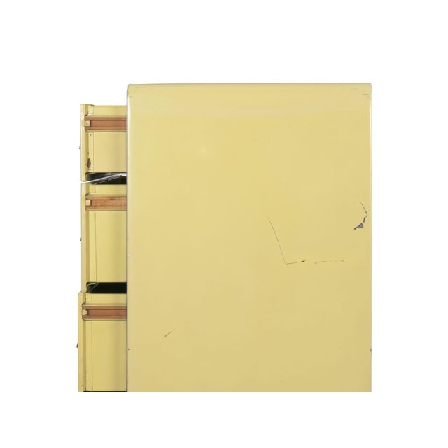Circa 1930s Art Deco Yellow Enamel Chest of Drawers Dresser by Norman Bel Geddes For Sale - Image 10 of 13