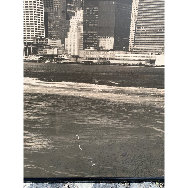 Metal 1970s Lower Manhattan Cityscape Photograph, Framed For Sale - Image 7 of 11