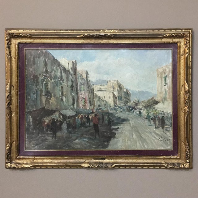 Antique Impressionist Framed Oil Painting by Francesco Filosa (1910-1990) For Sale - Image 11 of 11