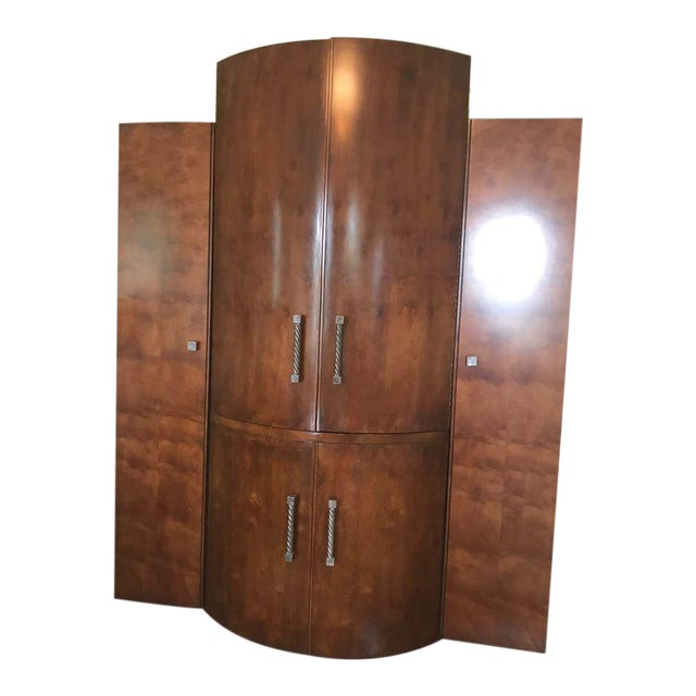Century Furniture Wooden Armoire For Sale