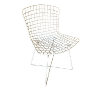 """White Bertoia Steel Wire Side Chair With """"X"""" Base by Knoll, Set of 6 Preview"""