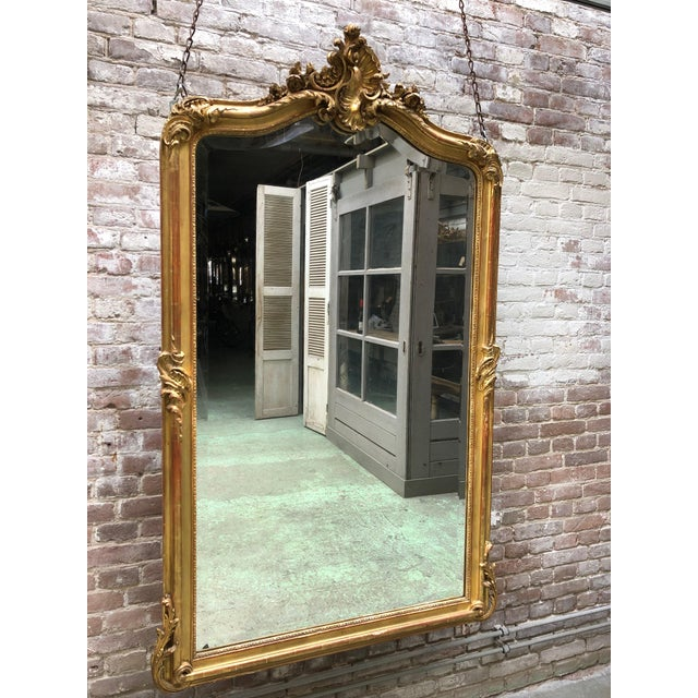 Gold Louis XV Mirror , 19th Century For Sale - Image 8 of 9