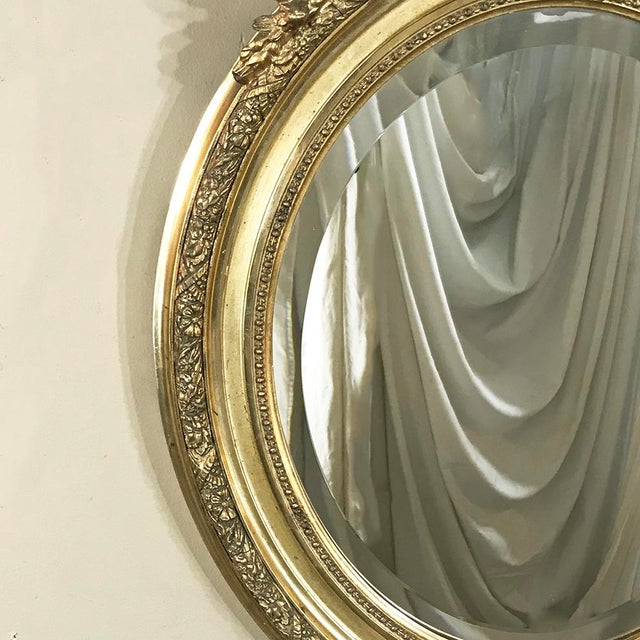 Gold 19th Century French Louis XV Gilded Mirror With Cherub For Sale - Image 8 of 11