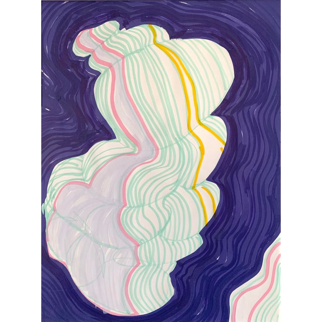 Cloud Contour Painting For Sale In Nashville - Image 6 of 6