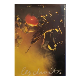 1989 Original Poster for Artis 89's Images Internationales Pour Les Droits De l'Homme Et Du Citoyen - Les Droits For Sale