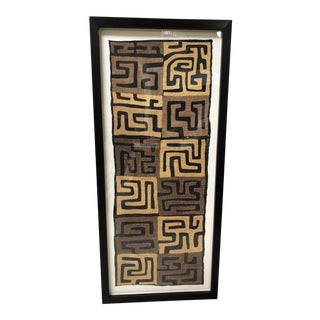 Framed African Kuba Cloth