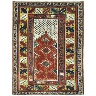 Surena Rugs Handmade Vintage Wool Area Rug - 3′3″ × 4′5″