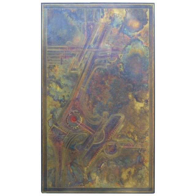 Bernhard Rohne Brass Acid Etched Wall Art For Sale - Image 11 of 11