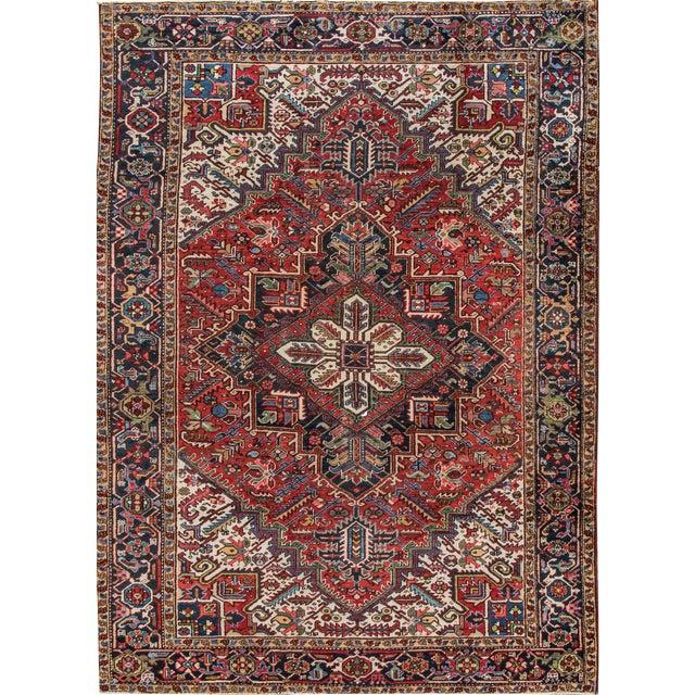"""Apadana - Vintage Persian Heriz Rug, 7'9"""" x 10'9"""" - Image 1 of 7"""