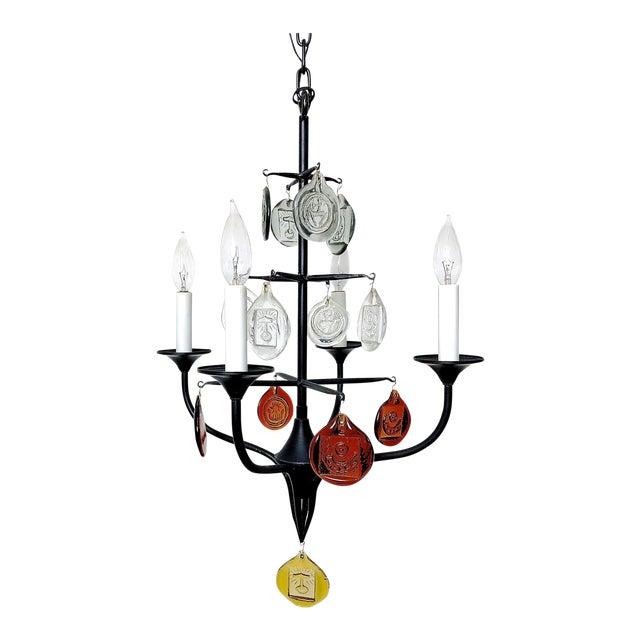 1950 erik hoglund iron glass candelabra chandelier chairish 1950 erik hoglund iron glass candelabra chandelier image 12 of 12 aloadofball Image collections