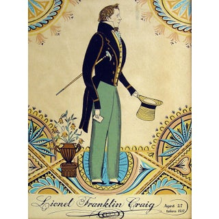 Lithograph of Regency Era Gentleman For Sale