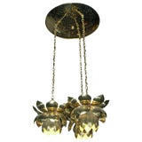 Image of 1960s Feldman Lighting Co. Mid-Century Lotus Pendant Chandelier For Sale