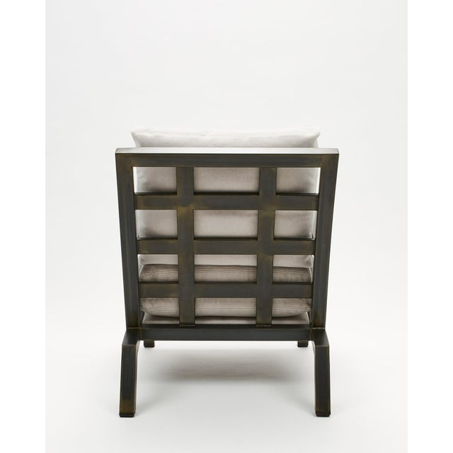 Contemporary Pair of Grm Bespoke, Handmade Custom Steel Urban Lounge Chair for Studio 6f For Sale - Image 3 of 7
